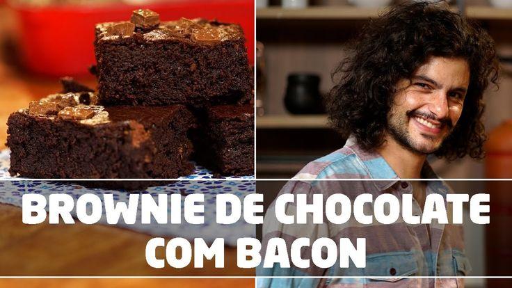 Brownie de Chocolate com Bacon | VAI COM CHOCOLATE?