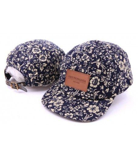 OBEY Propanda Floral Strapback Hat (Navy).