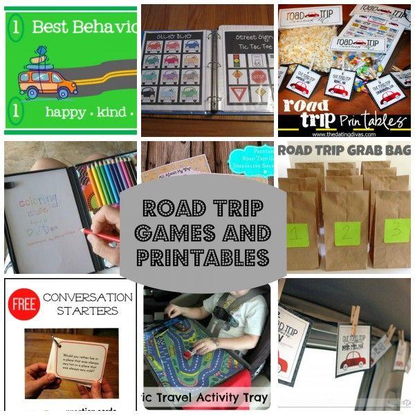 Super Fun Road Trip Games and Printables! Genius!!