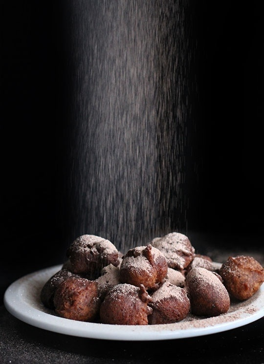 Dutch new years eve traditional goodies: Oliebollen
