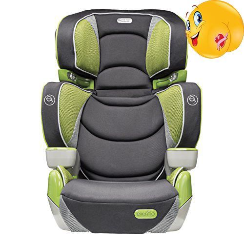 The #Evenflo Right Fit Booster Seats offer a 2-in-1 design that allows them to transition from a high-back booster seat to a no-back booster seat. The Right Fit ...