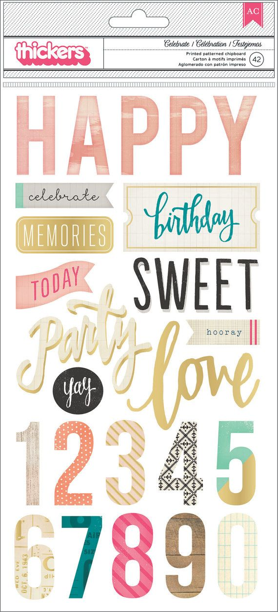 Maggie Holmes - Crate Paper - Confetti Collection - Printed Chipboard Stickers - SharBearCrafts