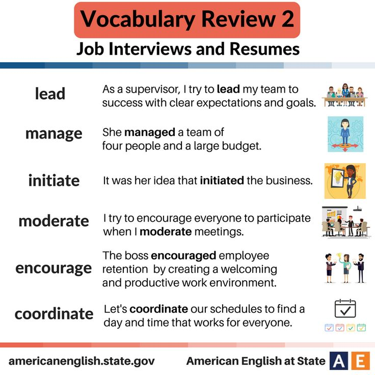 vocabulary job interviews and resumes review 2