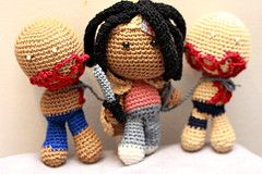 The Walking Dead Crochet Dolls! Hahaha its so cute but its supposed to be so gruesome!