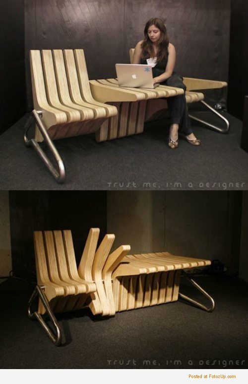 What a brilliant idea to maximise your working environment! Awesome!