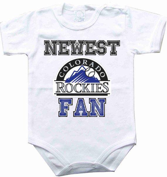 Baby bodysuit Newest fan Colorado Rockies baseball by rockbabysuit, $10.98