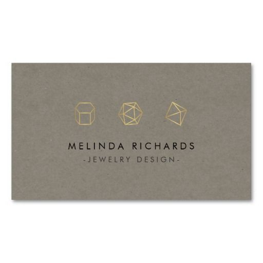 Best 25 business cards for jewelry designers etsy shops images on modern gemstone trio logo iii jewelry designer business card wajeb Images