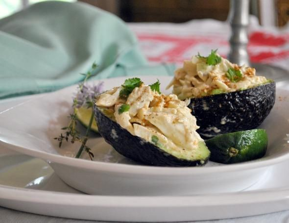 Crab Salad in Avocado Halves from Food.com: A yummy crab salad that I ...