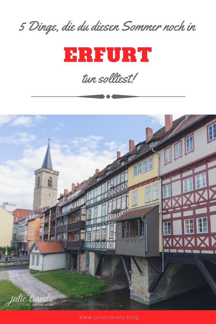 Erfurt im Sommer! Ich habe 5 außergewöhnliche Events und Orte vorgestellt, die du diesen Sommer unbedingt noch erleben solltest. Lass dich überraschen :)