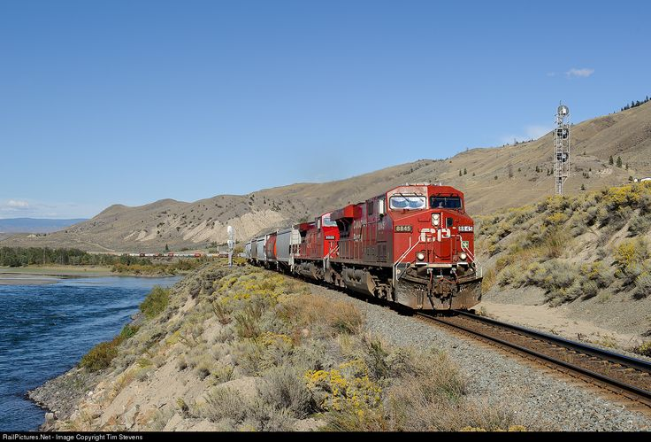 RailPictures.Net Photo: CP 8845 Canadian Pacific Railway GE ES44AC at Basque, British Columbia, Canada by Tim Stevens