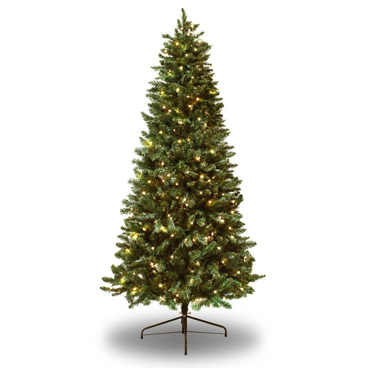 7' Green Douglas Fir Artificial Christmas Tree with 300 Clear Lights