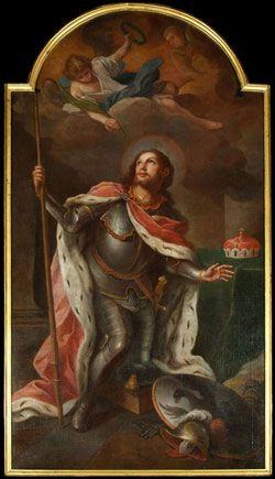 St. Wenceslaus, was the duke of Bohemia from 921 until his assassination in 935, purportedly in a plot by his own brother, Boleslav the Cruel. Feastday, September 28