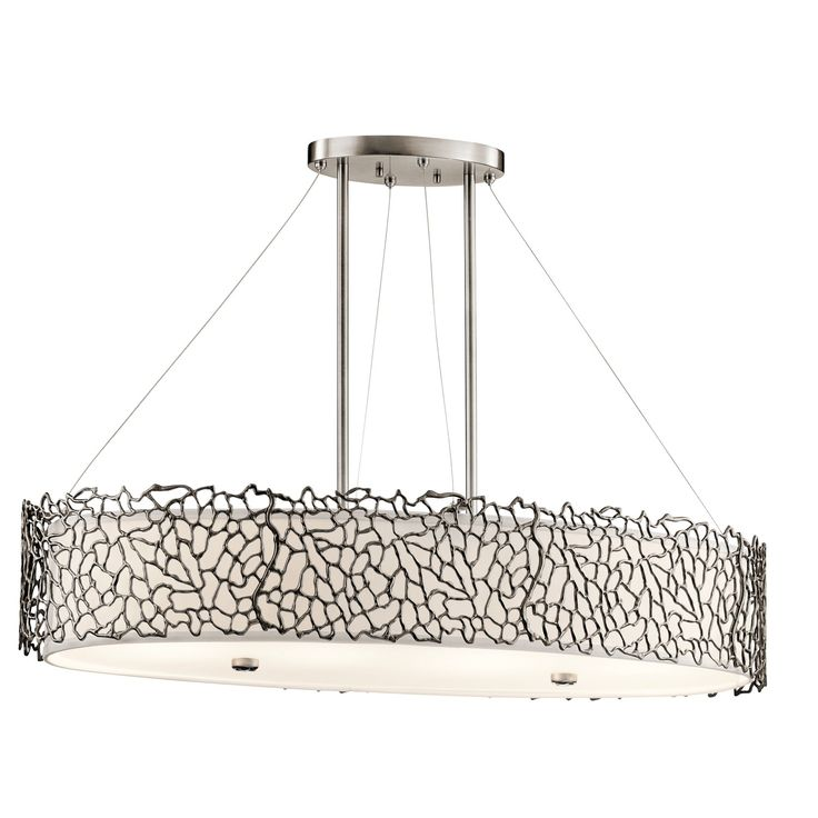 Silver Coral 4 Light Oval Chandelier Pendant In Classic Pewter CLP Find This Pin And More On Kitchen Dining Room