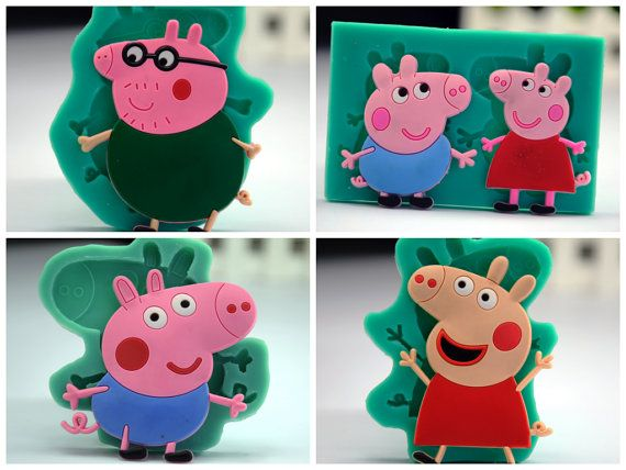 PeppaPig cake mold Peppa Pig Cookies Jelly mold by ChainsJewelry