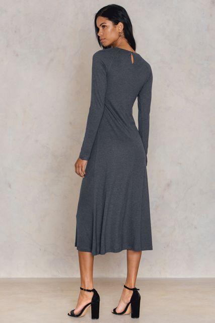 Raglan Sleeve Jersey Dress