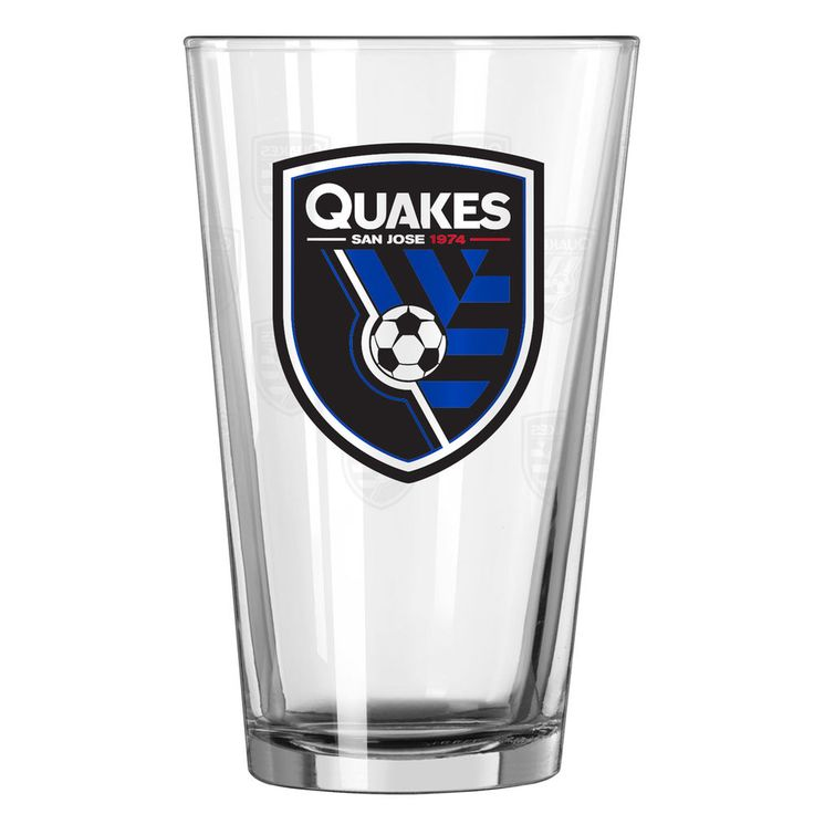 San Jose Earthquakes 16oz. Satin Etch Pint Glass