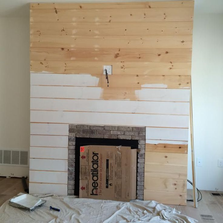diy shiplap fireplace wall - Fireplace Surround Ideas
