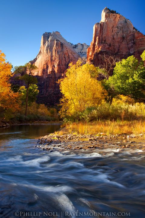 Court of the Patriarchs, Zion Canyon, Zion National Park, Utah, photo by Phillip Noll