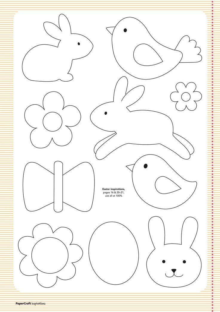 FREE Templates from your April issue... | Papercraft Inspirations Easter clipart ideas