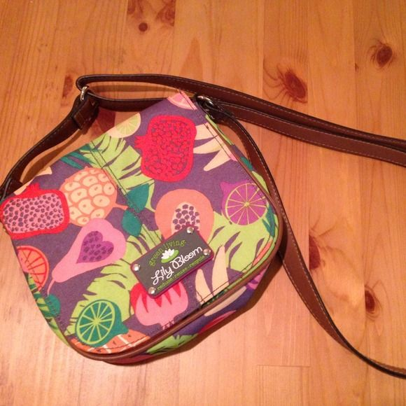 Lily Bloom crossbody purse Cute bag! Made of recycled plastic. Lily Bloom Bags Crossbody Bags