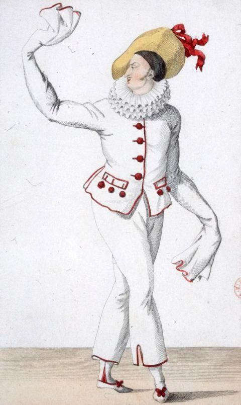 7 juillet 1784 : mort d'Antoine Anseaume, l'un des pères de l'opéra-comique. Illustration : Le chanteur et comédien Jean Elleviou (1769-1842) dans le rôle de Pierrot en 1811, dans l'opéra-comique Le Tableau parlant composé par Anseaume et Grétry (1769)