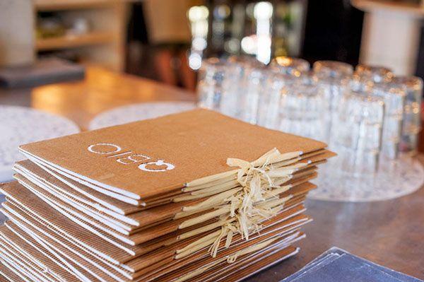 menu natural paper on Behance