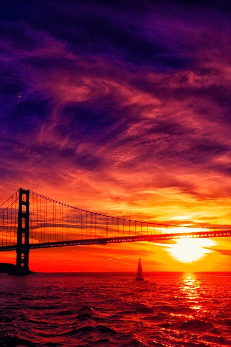 картинки на телефон мост с закатом вагон считается безопасным