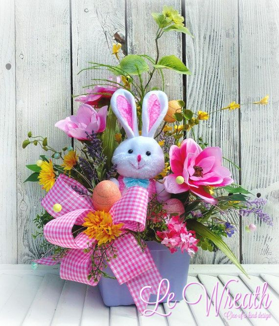 Bunny Centerpiece Easter Floral By LeWreath