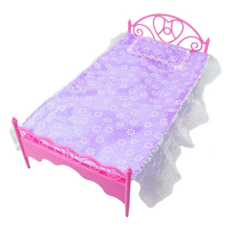 4.05$  Buy here - http://alib8x.shopchina.info/go.php?t=32634752002 - LeadingStar Lovely and Fashionable Purple Mini Bed With Pillow for  Dolls Dollhouse Bedroom Furniture Hot Selling Children Gift  #buyonlinewebsite