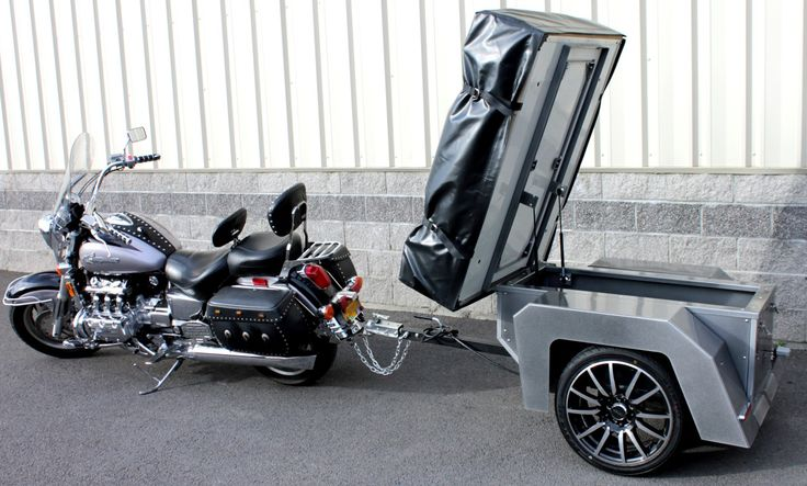 Spitfire XT Motorcycle Tent Trailer with top lid access.