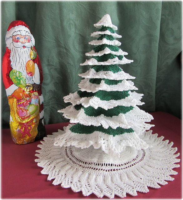 Advent Calendar Handmade Knitting : Knitted christmas tree pattern by frances powell