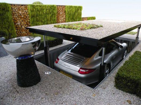 Posh Underground Garage Needs Proper Location Creative Car Park House Design With Hydraulic System