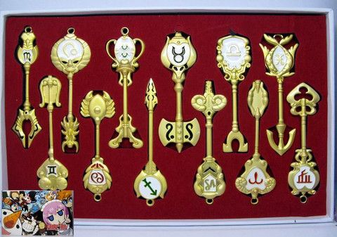 Fairy Tail Weapon Keychain Set FLKY9750 | 123COSPLAY | Anime Merchandise Shop Free Shipping From China | Anime Wholesale
