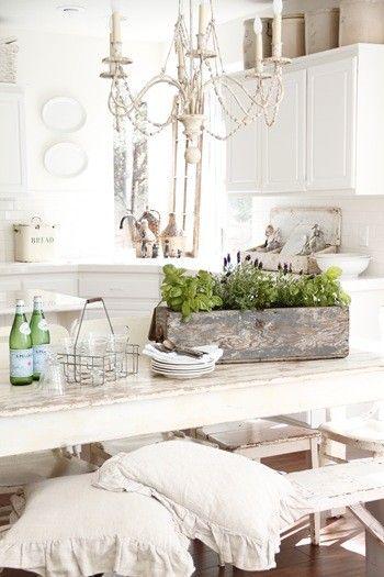 Shabby, White, Pretty Home
