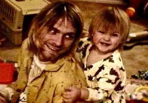 Kurt Cobain with his daughter Frances Bean, around March 1994. Supposedly his last photo : OldSchoolCool