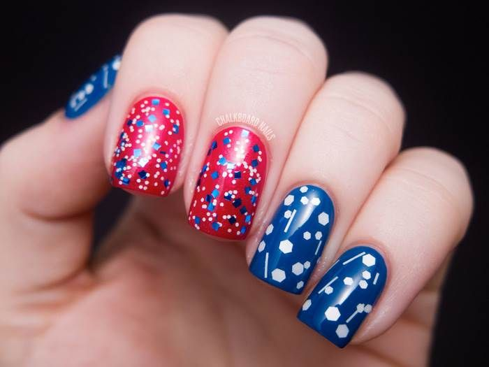 Red, white and awesome 4th of July nail art designs