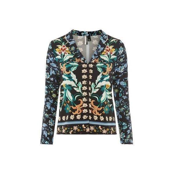 Topshop Tigerlilly Print Pyjama Shirt (€45) ❤ liked on Polyvore featuring intimates, sleepwear, pajamas, light blue, long sleeve pajamas, long sleeve pyjamas, topshop pyjamas and long sleeve sleepwear