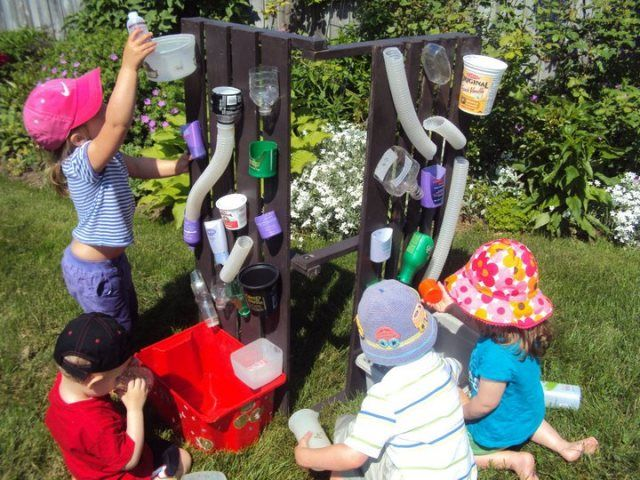 How to build a water wall for kids water play