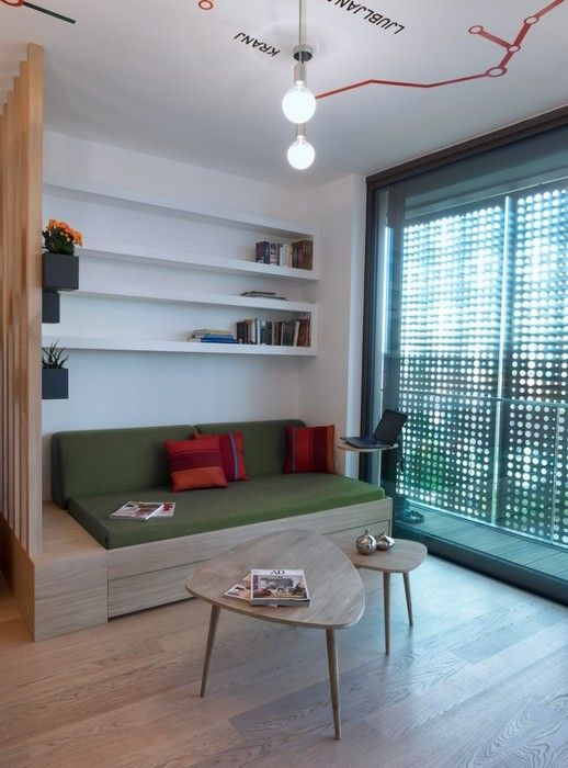 This Trendy Apartment Is Located In Ljubljana Slovenia It Was Designed By GAO Architects Small For Rent Situla Residential Complex