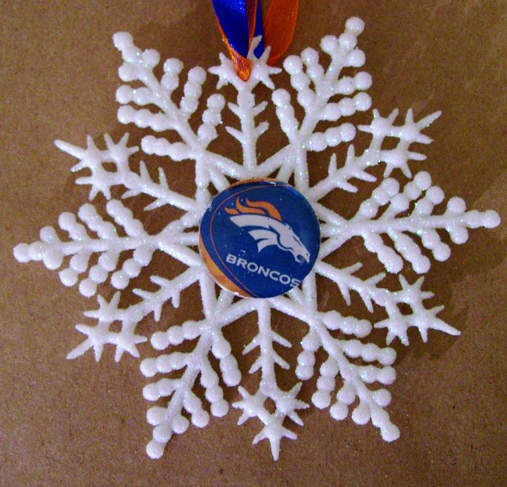 Denver BRONCOS Football Handcrafted Snowflake by ZZsTeamTime on Etsy