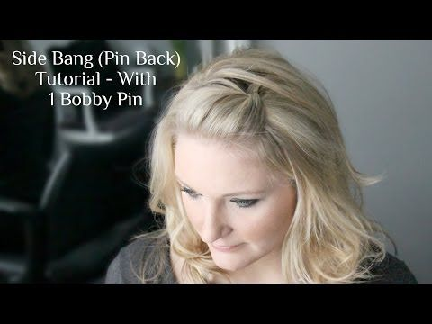 Side Bang, Pin Back Poof Using Just 1 Bobby Pin {Video}
