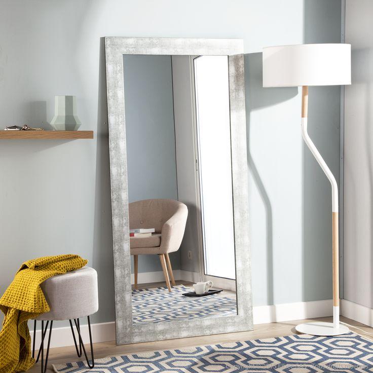 miroir rectangulaire en bois mdf finition mat chic axe