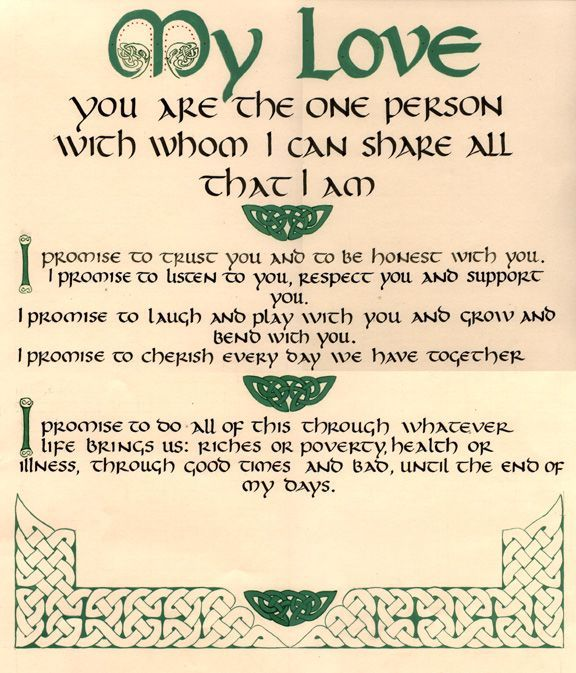 Irish Wedding Quotes: Wedding Certificates, Quaker And Others