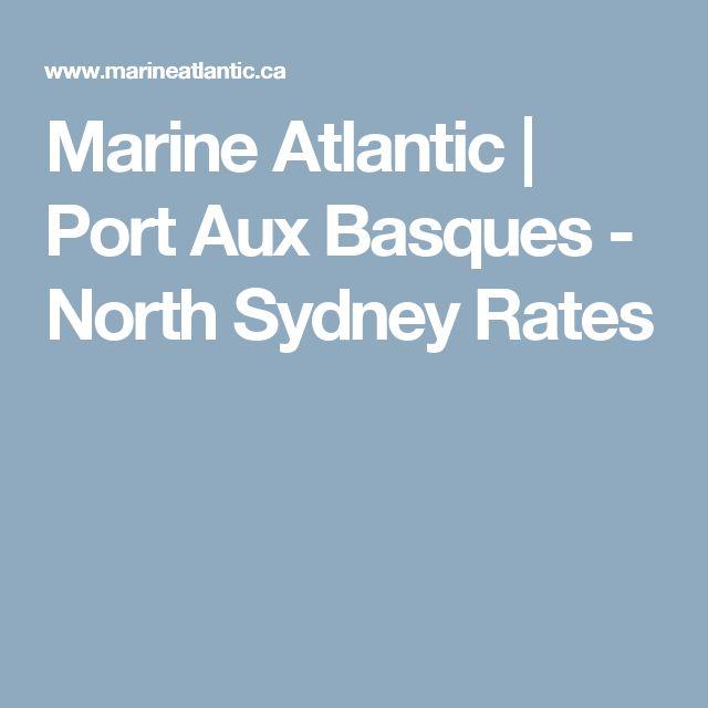 Marine Atlantic | Port Aux Basques -  North Sydney Rates