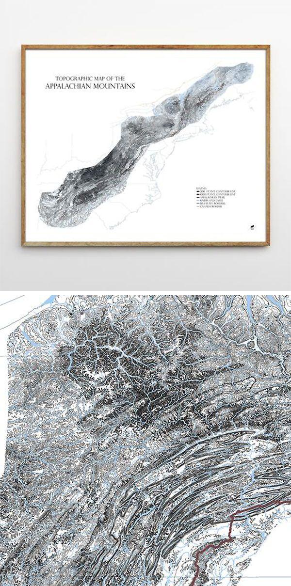 Appalachian Mountains-Range Series | Mountain Range Maps | Detailed ...