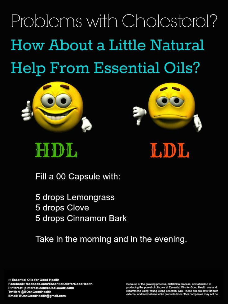 High Cholesterol - Many suffer with high cholesterol. Doctors just want to treat it by putting them on dangerous prescription drugs with a long list of side effects. Enter essential oils. Clove, Lemongrass, and Cinnamon Bark essential oils are a great, natural way to get cholesterol under control. Check us out at Facebook.com/EssentialOilsforGoodHealth or Twitter at Twitter.com/EOs4GoodHealth for much more information about how essential oils can help you.