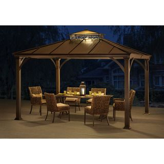 Shop For Marta Hardtop Gazebo Get Free Delivery At Overstock