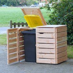 Bei unterschiedlich großen Abfalltonnen empfehlen wir die binnen-Markt Mülltonnenbox 240 L, so bleibt die einheitliche Optik erhalten.