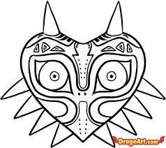 Majoras Mask Zelda Coloring Page Printable Game