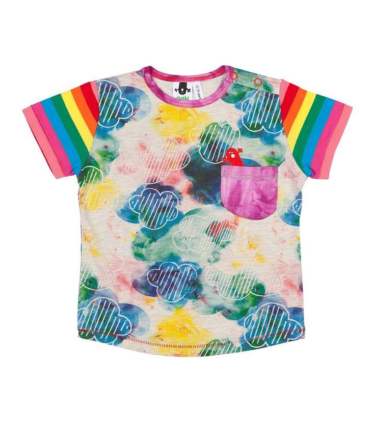 Spirit Fingers S/S Pocket T Shirt, Oishi-m Clothing for kids, Hi Summer 2015, www.oishi-m.com